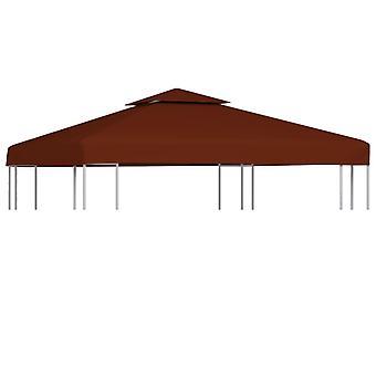 vidaXL 2-stage pavilion roof 310 g / m2 3x3 m terracotta