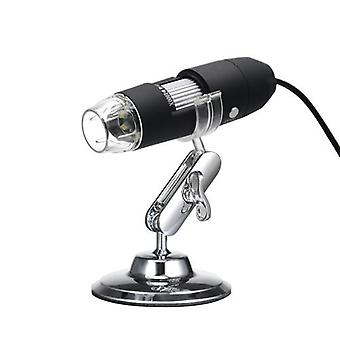 USB Digital Zoom Microscope Magnifier with OTG Function 8-LED Light Magnifying Glass 1000X Magnification with Stand