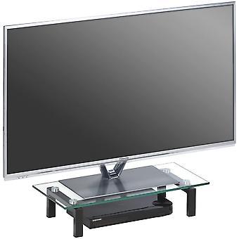 Media TV-Board, Glas, Schwarz, 600 x 125 x 280 mm