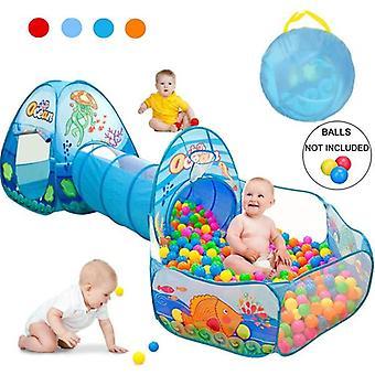 Børn Baby Play House Telt Tunnel Ball Pool Pop Up Kids Indendørs Udendørs Legetøj (Bolde ikke inkluderer)