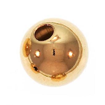 14K guldfyllda sömlösa runda pärlor 6mm (4)