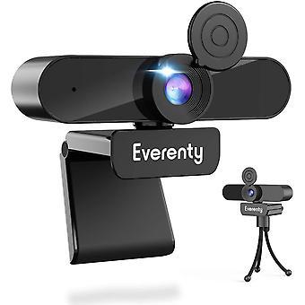 FengChun Webcam mit Mikrofon Webcam 2K 1440p Full HD,mit Abdeckung und Stativ,Duale Stereo Mikrofon,