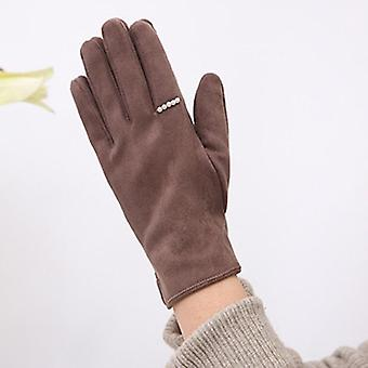 Зимний бархат женщин Теплый сенсорный экран перчатки