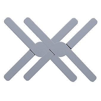 2pcs Foldable Creative Silicone Non slip Heat Resistant Pan Mat Placemat Dish Plate Coaster(blue)
