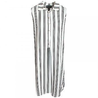 Frank Lyman Long Length Striped Sleeveless Blouse