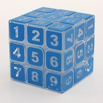 Průhledné číslo puzzlerubik kostka, vzdělávací hračka / dospělí hračka az5685