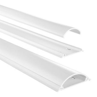 Conduit de câble en PVC Hama, semi-circulaire, 100cm x 7cm x 2,1 cm, blanc