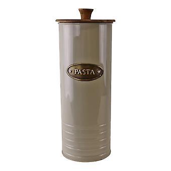 Metal i Acacia Wood Pasta Tin, 29x12cm
