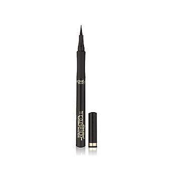 L'Oreal Paris עיפרון אייליינר ליקר, שחור, מדויק במיוחד, קווים חסיני כתמים, עמיד למים, סופר דק שלא ניתן לטעות בו, 4.5 גרם
