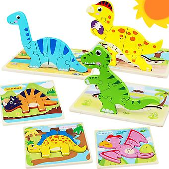 Toddler Puzzles Dinosaur Wooden Puzzle For Kids,educational Gift