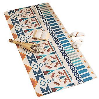 YANGFAN Washable Carpet Cotton and Linen Area Rug