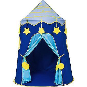 Τα αγόρια παίζουν σκηνή εσωτερικό μωρό πάρκο παιχνίδι παιδιά σκηνή σπίτι αστέρι μπλε