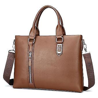 Herren Handtasche Business Leder Schulter Computer Tasche Herren Aktentasche