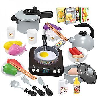 Kids Kitchen  Cooking Set Utensils Little Chef For Kids Kitchen Playsets(GRAY)