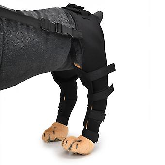Evago Dog Rear Leg Hock Brace, Pair Of Canine Dog Leg Joint Wraps Compression Brace Protects Wounds, Heals And Prevents Injuries And Sprains Helps Wit