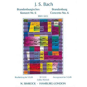 Bach: Brandenburg Concerto No. 6 Bwv 1015 5 Cellos Set Of Parts