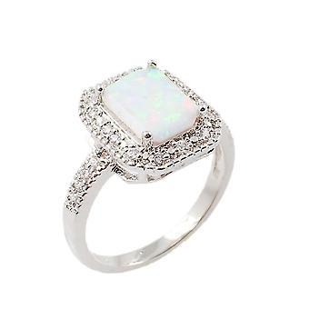 Neliökuutiomuotoinen opaalirengas