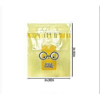 2pcs engangs lagring rengjøringsveske for i bilen klebrig søt tegneserie bil (gul)
