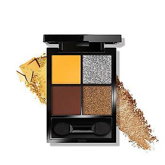 Matte oogschaduw pigment glittery 4 kleuren palet helder maken langdurige make-up