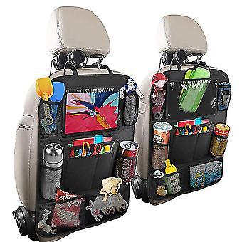 2 stuks auto achterbank organisator ipad pad tablet houder opslag kick matten kinderen speelgoed tas
