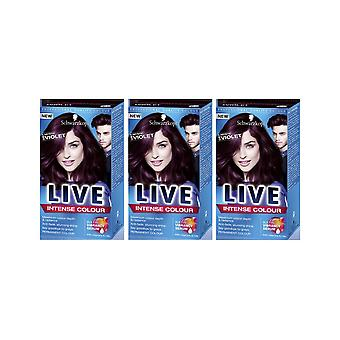 Schwarzkopf LIVE Intense 087 Mystic Violet Pro Permanent Hair Colour Dye x 3