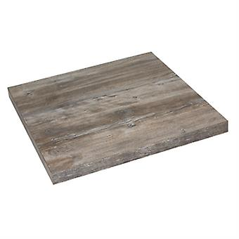 Ilkay Extra Thick 48Mm Square Table Top Vintage Pine Effect Commercial Quality