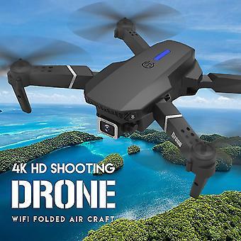 Télécommande hélicoptères e525 pro drone avec 4k double caméra wifi fpv anti collision pliable mini dron|rc hélicoptères