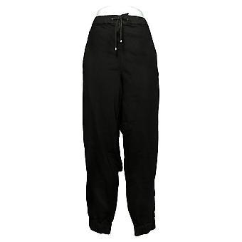 Skinnygirl Women's Pants Pull-On Knit Denim Jogger Black 753683