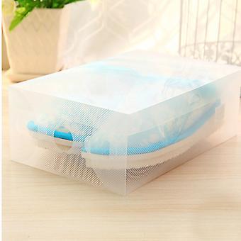 Homemiyn 10 Pack Shoe Storage Boxes, Clear Plastic Stackable Shoe Organizer Bins