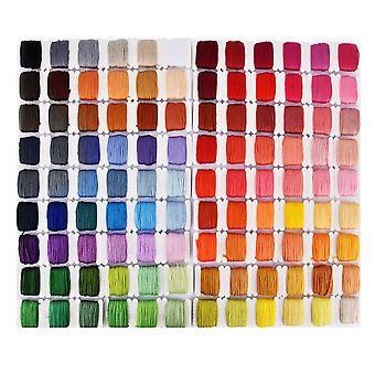 Hand borduurwerk Diy Materiaal 108 Kleur Draad Hand Borduurwerk Naald Set Kruissteek Borduurwerk Tools