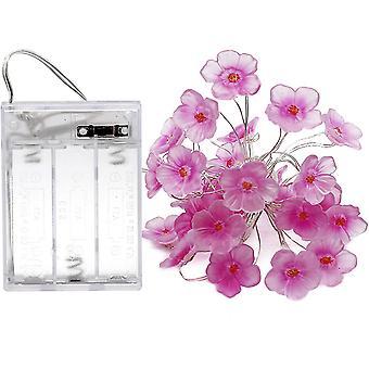 Satu vaaleanpunainen kirsikankukka string valot, 30 jalkaa 30 ledit, sopii tyttöjen makuuhuone, joulu, häät, sisä- ja ulkokoriste