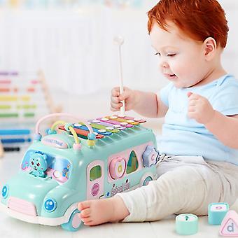 Instrument de musique en forme de bébé bus, jouant du piano, jouets d'apprentissage pour enfants, musique, développement de la coordination œil-main