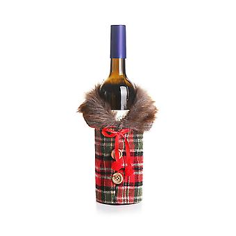 Mile 2 Pcs Christmas Wine Bottle Covers And Utensil Pouch Set,christmas Sweater Wine Bottle Cover Decorative For Xmas Dinner Party