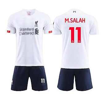 Liverpool Away White Shirt No.11 Mohamed Salah Match Football Jersey