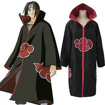 Animer Cosplay Costume Akatsuki Itachi Cloak Superior Quality Anime Convention