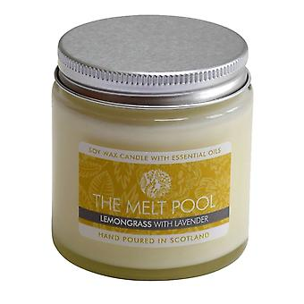 Small Jar Lemongrass & Lavender Candle by The Melt Pool