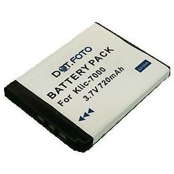 Dot.Foto Kodak KLIC-7000 remplacement batterie - 3.7V / 720mAh