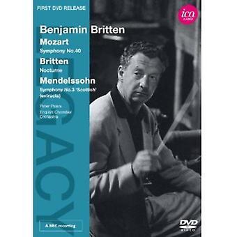 Benjamin Britten Conducts Mozart/Britten & Mendels [DVD] USA import