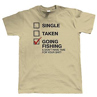Menossa Kalastus, Mens Funny Kalastus T-paita, lahja isä hänelle