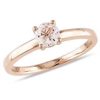 Morganite Solitaire Ring 1/2 Carat (ctw) in 10K Rose Gold