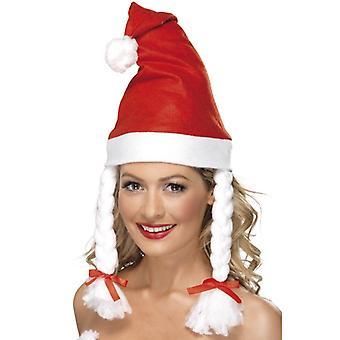 כובע של סנטה קלאוס עם כובע המולד של לצמות