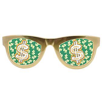 Dollarbrille Dollarzeichen XL Sonnenbrille Scherzbrille Clownbrille Dollar Brille