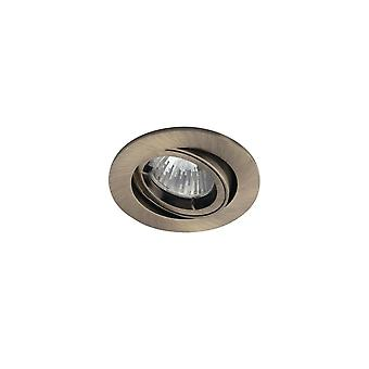 Ansell Ansell Twistlock Gimbal Antik Messing GU10/MR16 Downlight