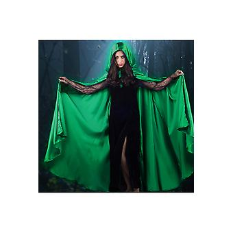Capes Long Cape satin grün