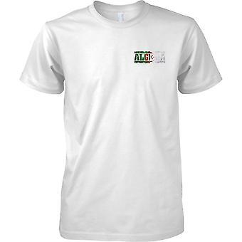 Algerien Grunge Land Name Flag Effect - Kinder-Brust-Design-T-Shirt