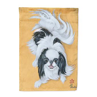 Japanese Chin Black White Play Flag Canvas House Size