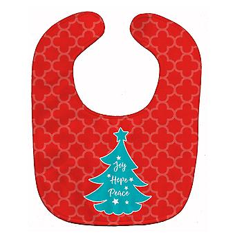 Carolines Treasures  BB6969BIB Christmas Tree Red Teal Baby Bib