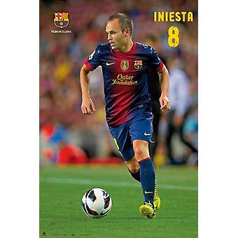 Andres Iniesta Soccer Poster Poster Print by