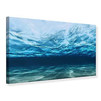 Canvas tulostaa valon heijastumista vedenalainen