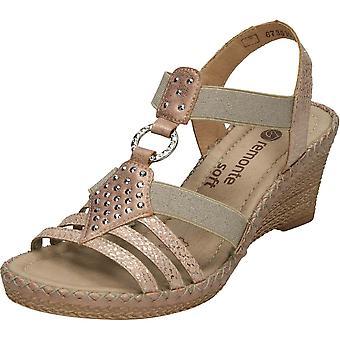Slip remonte Rosa sur élastique Wedge Sandals D6768-31